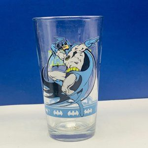 Batman drinking glass mug cup Gotham DC comics vtg